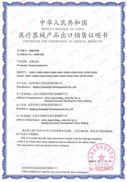 Chine Beijing Globalipl Development Co., Ltd. Certifications